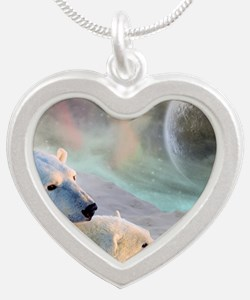 Top of the World Silver Heart Necklace