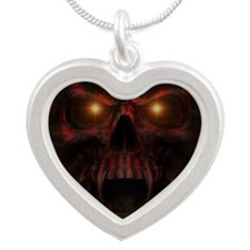 Depths of Hell Silver Heart Necklace