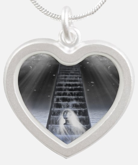Stairway to Heaven Silver Heart Necklace