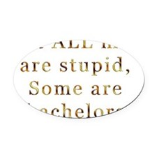 Not ALL men are stupid Oval Car Magnet