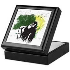 gorilla sunset Keepsake Box
