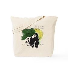 gorilla sunset Tote Bag