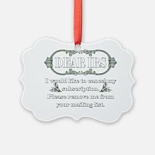 Dear IRS Ornament