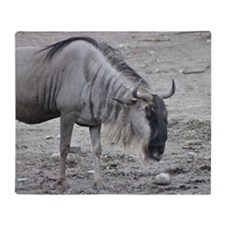 Wildebeest3 Throw Blanket