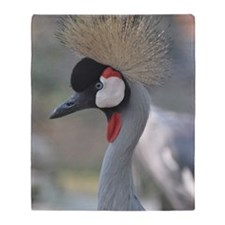 Africian Crowned Crane Throw Blanket