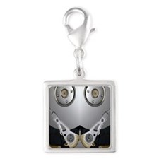Hard drive Silver Square Charm