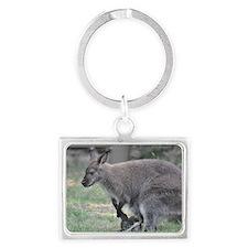 wallaby Landscape Keychain
