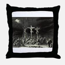 The Crucifixion - 1849 Throw Pillow