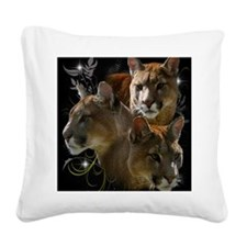 Cougar Square Canvas Pillow