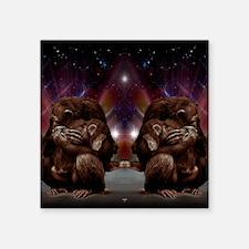 """Chimpanzee Love Square Sticker 3"""" x 3"""""""