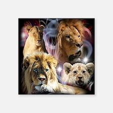 "Lions Square Sticker 3"" x 3"""