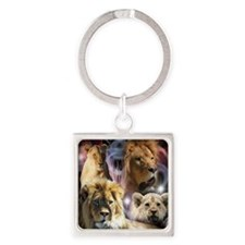 Lions Square Keychain