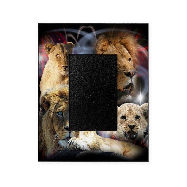 lions picture frame by admin cp6206939. Black Bedroom Furniture Sets. Home Design Ideas