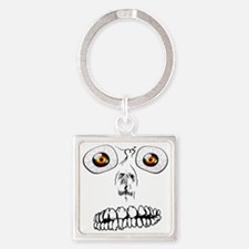 Halloween Face Square Keychain