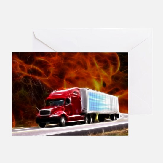 hells highway Large Greeting Card
