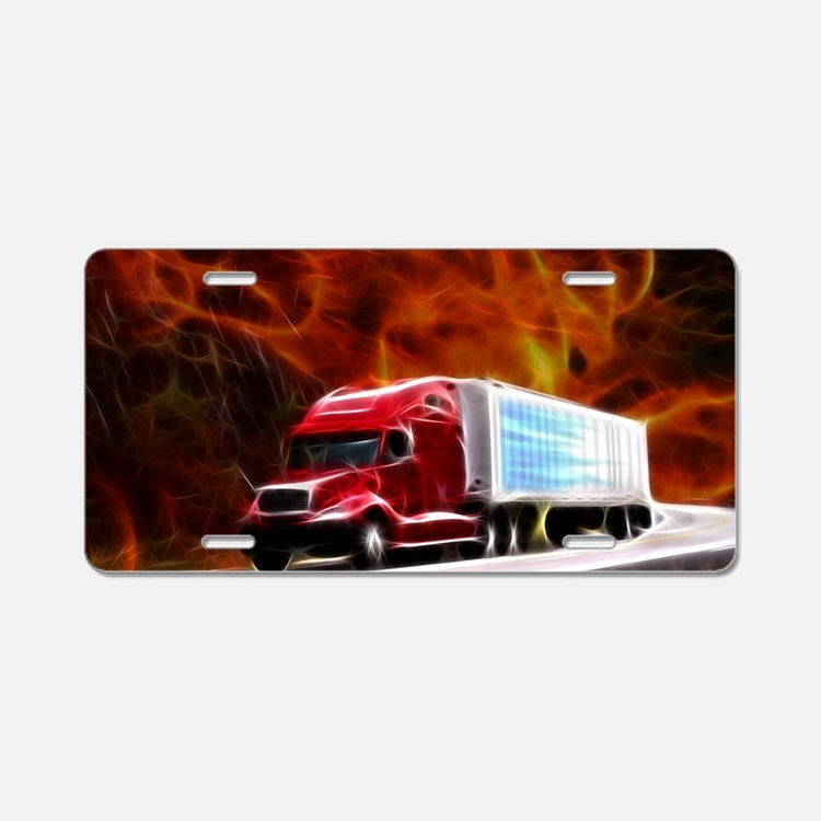 hells highway Large Aluminum License Plate