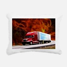 hells highway Large Rectangular Canvas Pillow