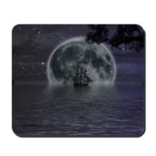 midnight cruise Large Mousepad