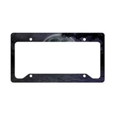 midnight cruise Large License Plate Holder