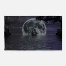 midnight cruise Large 3'x5' Area Rug