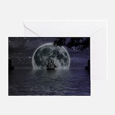 midnight cruise Large Greeting Card