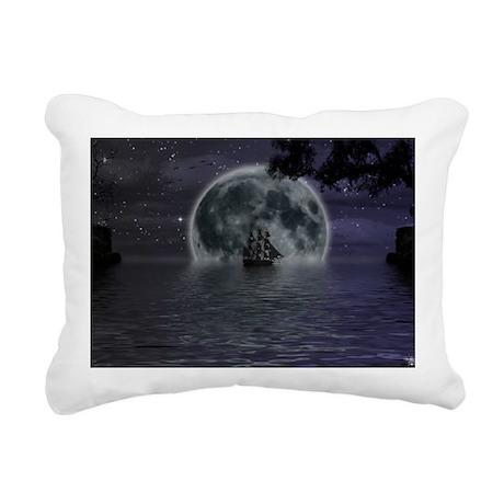midnight cruise Large Rectangular Canvas Pillow