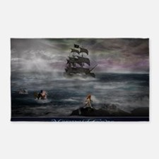 Mermaid Cove Large 3'x5' Area Rug