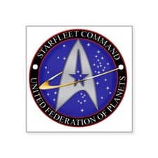 "Starfleet command emblem Square Sticker 3"" x 3"""