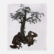 Gorilla Love png Throw Blanket