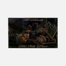 til death do us part poster 3'x5' Area Rug