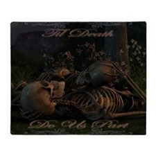 til death do us part poster Throw Blanket
