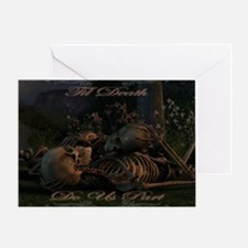 til death do us part poster Greeting Card