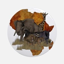 Safari Round Ornament