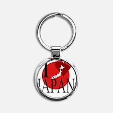 Japan Round Keychain