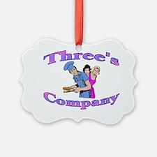 Threes Company Ornament