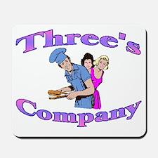 Threes Company Mousepad