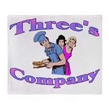 Threes Company Throw Blanket