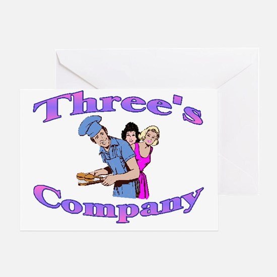 Threes Company Greeting Card