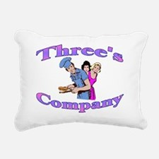 Threes Company Rectangular Canvas Pillow