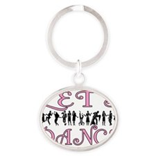 Lets Dance Oval Keychain