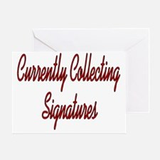 Collecting Signatures Greeting Card