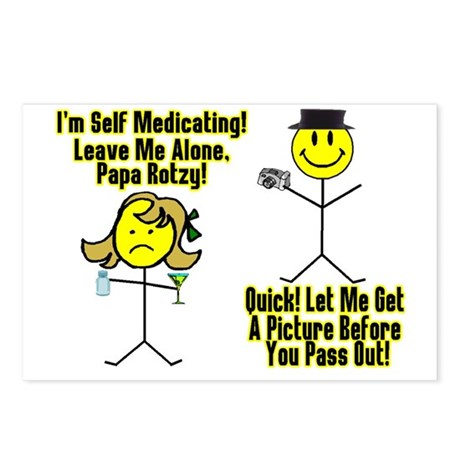 Self Medicating Postcards (Package of 8)