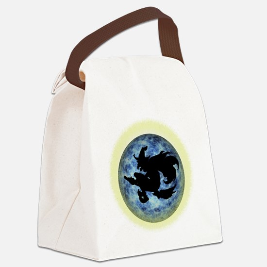 Witch In Moon Canvas Lunch Bag