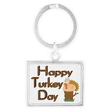Turkey Day Landscape Keychain