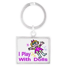 Play With Dolls Landscape Keychain