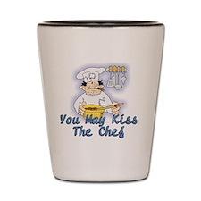 Kiss The Chef Shot Glass