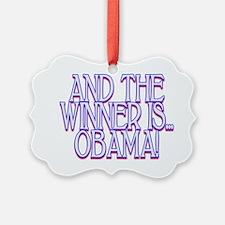 Obama Wins Ornament
