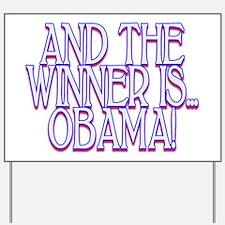 Obama Wins Yard Sign