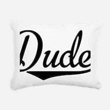 Dude Rectangular Canvas Pillow