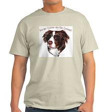 """Border Collie Cool"" Ash Grey T-Shirt"